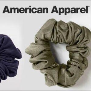 Three American Apparel scrunchies